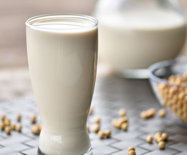 Picture of a cup of soybean milk