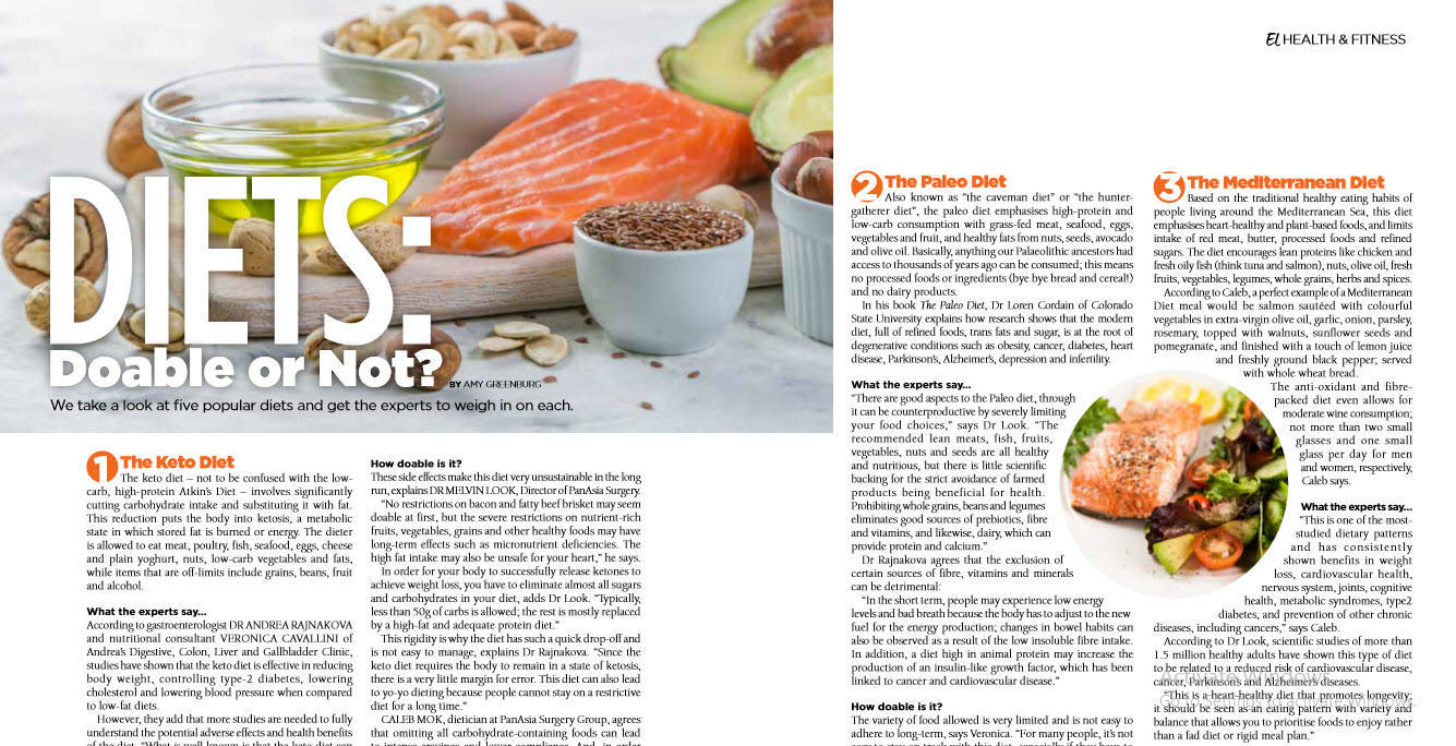 A picture of an article about Diets: Doable or Not