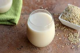 Picture of a cup of rice milk