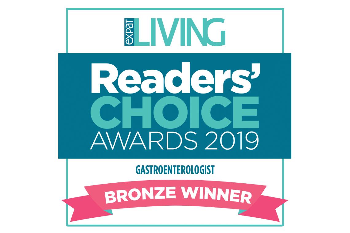 Expat Living Readers' Choice Awards 2019 - Gastroenterologist Bronze Winner
