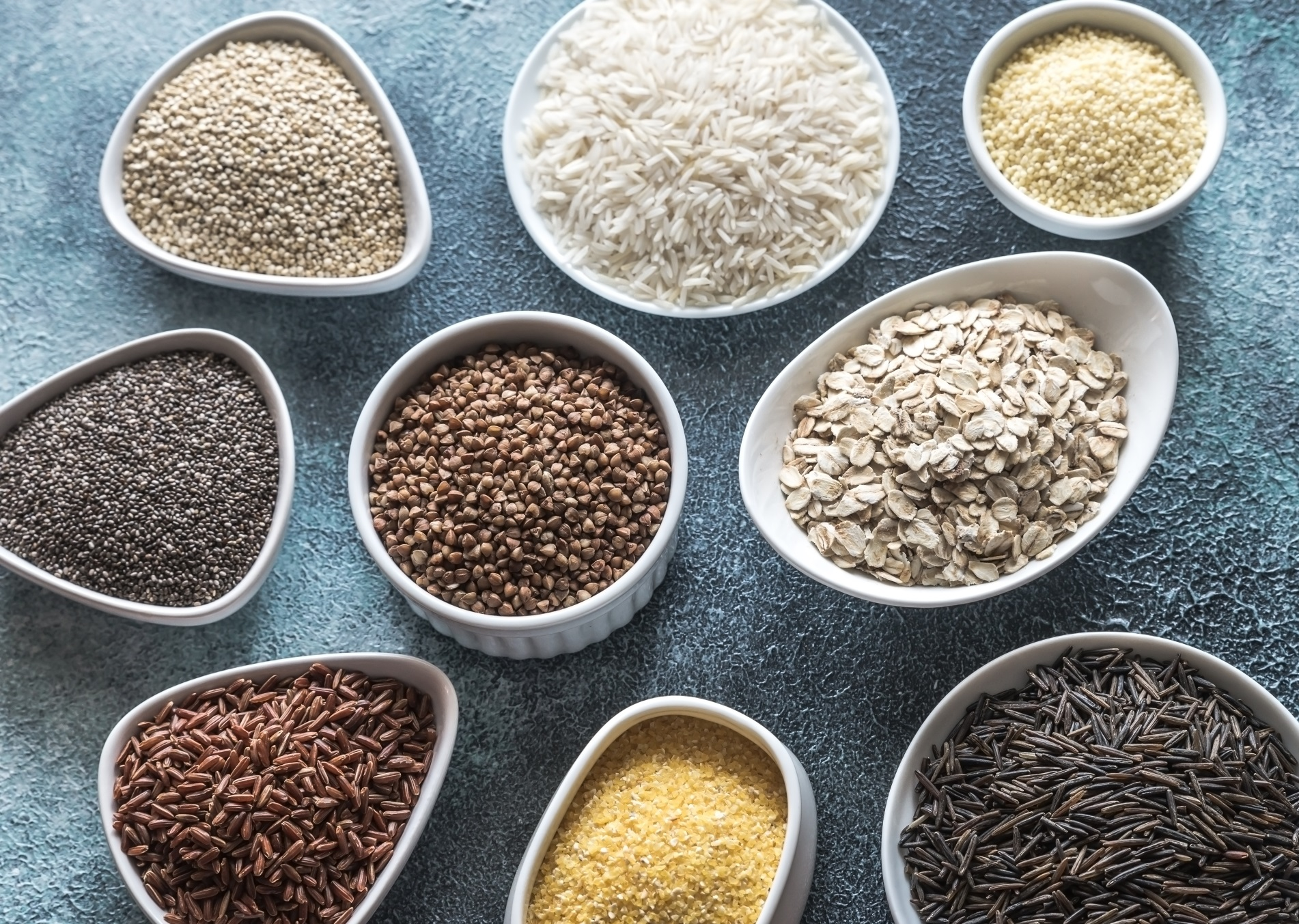Picture of many different types of gluten free food