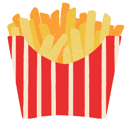 A picture of a packet of fries