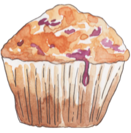 A picture of a muffin